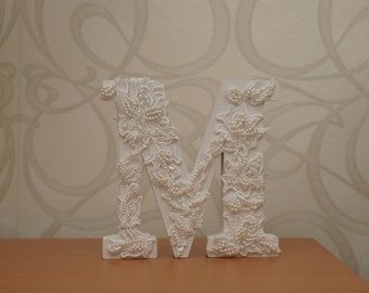 Lace letter decor for Weddings, Baby Shower, Nursery Decor decoration