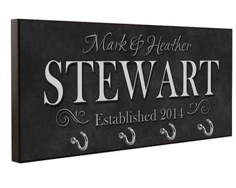 Charcoal Key Holder, Key Hanger, Wall Key Rack, Wall Key Holder, Key Holders, Personalized Gift, Home, Housewarming Gift, Wedding Gift