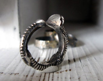 RESERVED - Silver Screw Ring Size 8.5