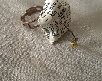 Ring made of fragments of old books