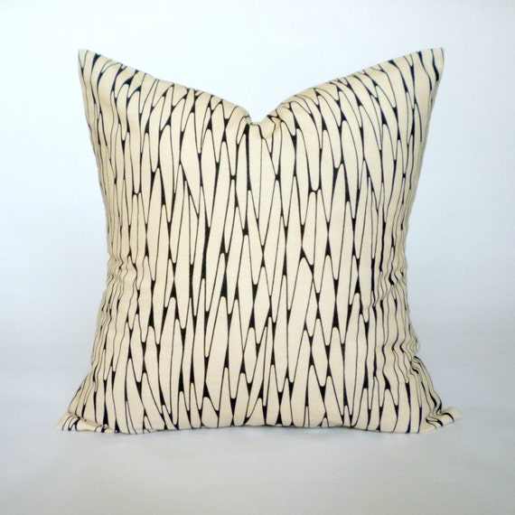 black cream pillow cover decorative throw pillow by With black and cream decorative pillows