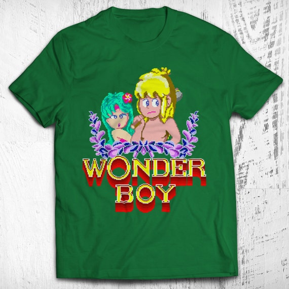 wonder boy unisex video game t shirt by nerdemia on etsy