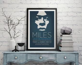 Original Design of a Miles Davis Concert Poster