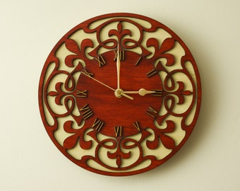 Wooden wall clock.