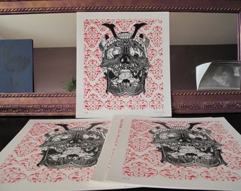 Hand-made serigraph on Canson 240 g