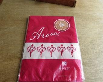 One pair of 'Arosa' 1950s 1960s vintage nylons stockings vintage size 11 - UK shoe size 7 - 9