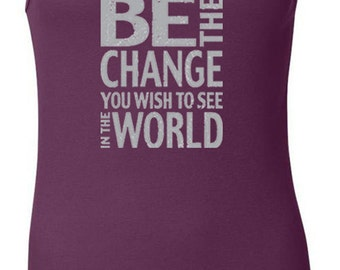 Ladies Tanktop Be the Change Longer Length Tank Top CHANGE-8780