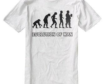 Evolution Of Man Beer Funny Humor Men's T-Shirt B002