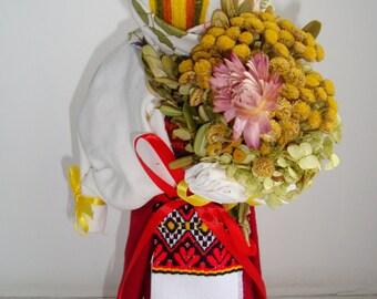 Ukrainian souvenir MOTANKA amulet folk doll 29 cm handmade BAZHANYTSYA desire Gift New Year