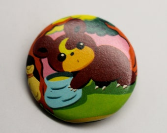 Teddiursa Neo Discovery 1.25'' inches Pinback Button - Made from REAL Pokemon Card!