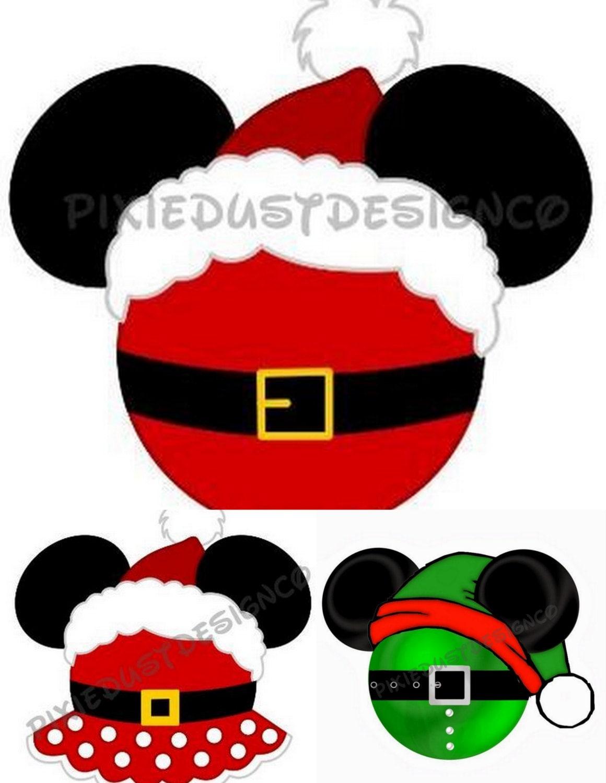 Disney Inspired Christmas Family Tees Santa Mickey Minnie