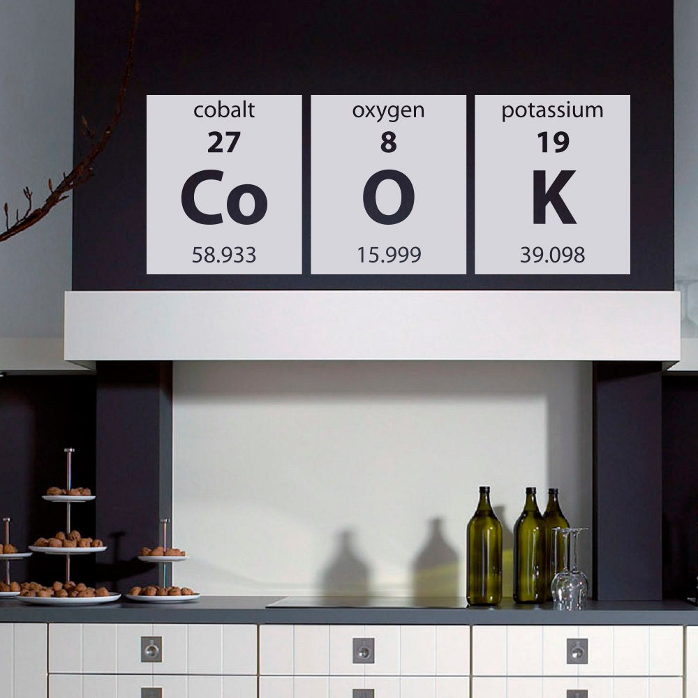 wall decals periodic table home decor elements by fabwalldecals. Black Bedroom Furniture Sets. Home Design Ideas