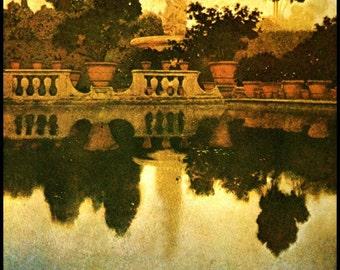 Maxfield Parrish  Print, 'Boboli Garden', Florence, Circa 1903, 10x14, Art Nouveau, Wall Hanging, Home Decor