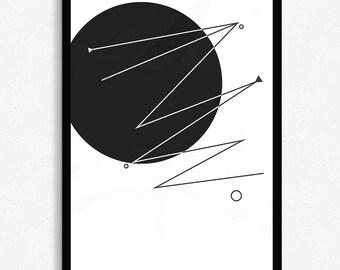 Tripwire - Geometric Print by AC Creative Online