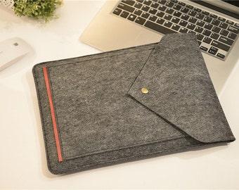 "Front Pocket Touch Bar 15"" Macbook Pro Sleeve ,Felt 15 macbook air case , Felt 15 Macbook Pro  Retina Sleeve, Felt 15 Macbook Case #206"