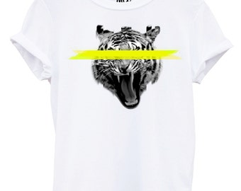 Blurred Tiger Funny Street Fashion Tshirt Hipster Swag Wildlife Brand New T Shirt