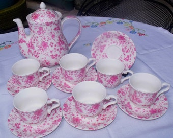 Whittard of Chelsea Tea Set - Pink Victoria Chintz