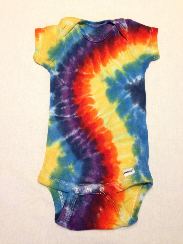 tie dye onesie infant 3 9 months rainbow curve baby by