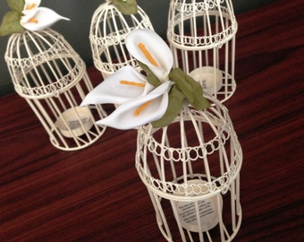 Birdcage Tealight Candle Holders Set of 4