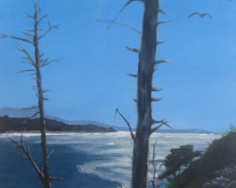 Original Acrylic Painting on stretched canvas.  Evening at the Over Look.