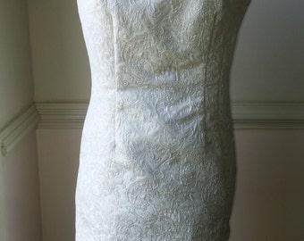 Cream vintage inspired dress