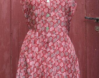 1960s Red spotty Vintage dress