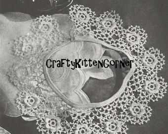 Vintage Irish Crochet Collar PDF Crochet Pattern