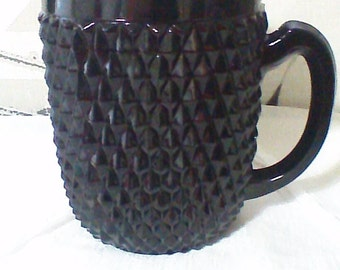 Black Tiara Cameo Diamond Point Serving Pitcher by, Indiana Glass Company