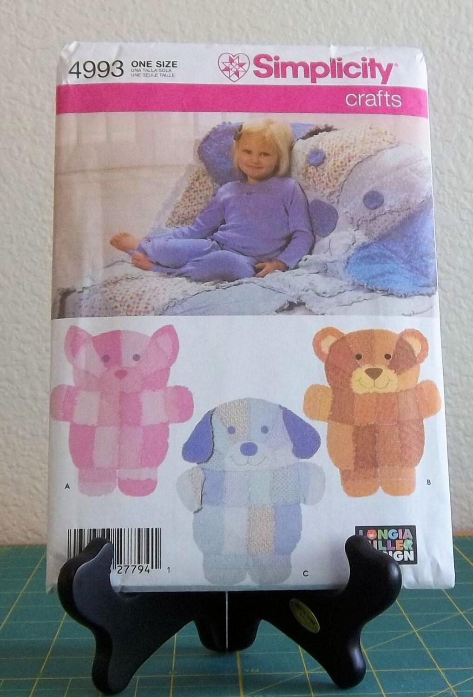 Simplicity pattern 4993 rag quilt wall hanging rag quilt for Simplicity craft pattern 4993