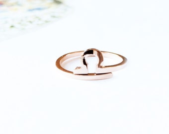 Horoscope Libra Ring Band 18K Rose Gold Horoscope Ring Adjustable Ring Band Stack Ring Multifinger Thumb Ring Simple Creative Birthday Gift