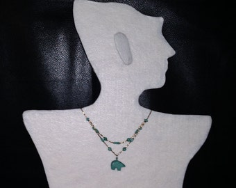 turquoise bear necklace