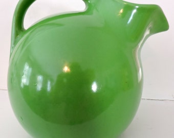 Green Tilt-Ball Jug Pitcher Pottery Hall-lookalike