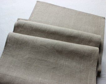 Table runner, gray linen, rustic runner, 100% natural, different lengths