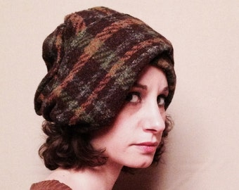 Brown wool turban