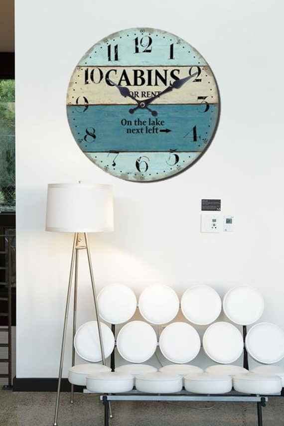 Decor Beach Coastal Wall Clock Wall Clock Beach Beach Home Decor