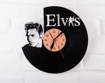 Vinyl Clock Elvis Presley blue suede shoes Wall clock Gift
