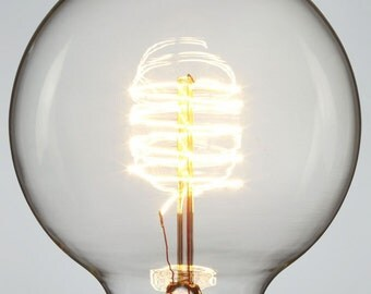 SMALL GLOBE - nostalgic Edison light bulb - G80 globe, ø80mm / 2200 K / E27