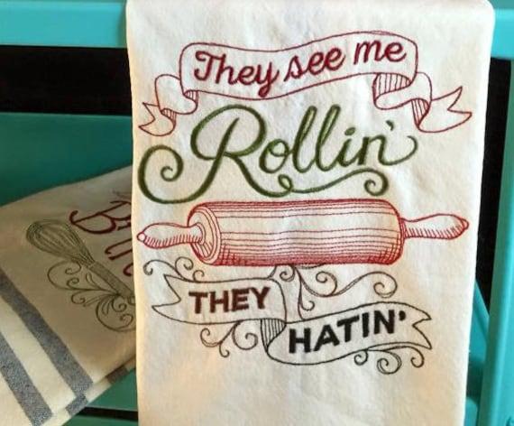 Tea Towel - Rollin'
