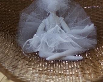 All white Ballerina with a white tutu