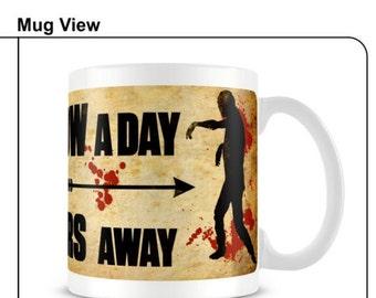 Walking Dead mug zombie mug walking dead