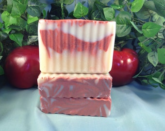 Summer Morning ~ Red Dawn ~ Handcrafted Vegan Soaps