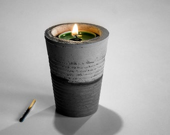 Concrete Candle Holder two colors