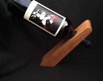 Handmade Cherry Wood Wine Bottle Holder