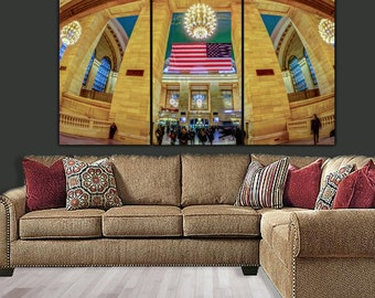 New York Grand Central Station Canvas Art, New York Wall Art, New York Photo, New York Print, Large Canvas Wall art, New York City, Poster