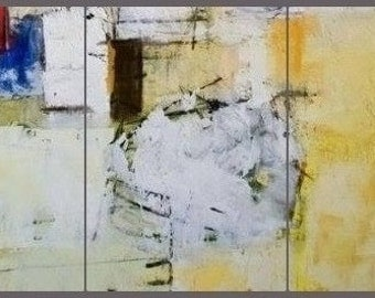 LargeYellow Painting,Abstract Painting,Large Wall Art,Wall Decor,Wall Hanging,Yellow White Art,Original Painting,Oil Painting