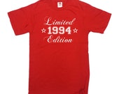 Birthday T Shirt 1994 (Any Year) 21st Birthday Gift T-Shirt 21 Years Old TShirt Gift For Him 1994 Custom Personalize Mens Ladies Tee - SA53