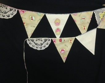 Tea Party Bunting Flag