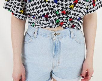 90s Vintage Zena Jeans Light Denim High-waisted Shorts -- 1990s VTG