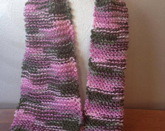 Pink and Green Camo Scarf