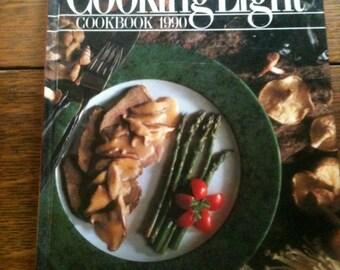 Cooking Light 1990 Cookbook - Vintage Cookbook - Cooking Light Vintage Cookbook - Cooking Light Annual - Cooking Light Selection